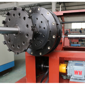 straw bending machine flange