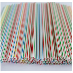 three color drinking straw