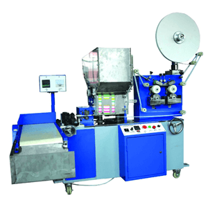 Paper straw packing machine with printing unit